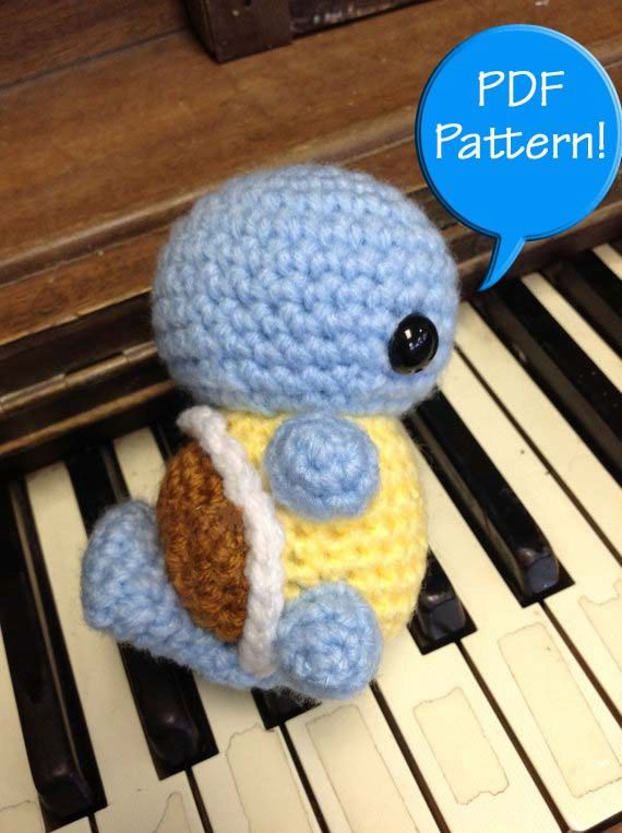 PDF PATTERN for Crochet Squirtle Amigurumi doll by CraftedCuteness ...