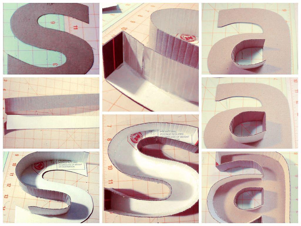 Como fazer letras de papel o 3d quilling tetra pak and - Letras infantiles para decorar ...