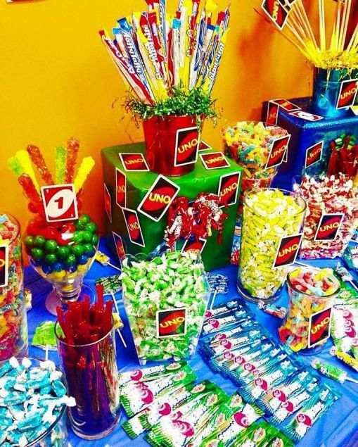 ElleSweetEvents on Instagram: ????Uno Themed Candy table????