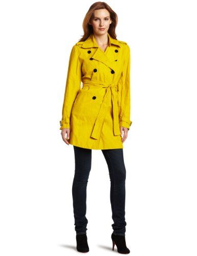 3d96a308eec78 Amazon.com: Kenneth Cole Women's Double Breasted Trench Coat ...