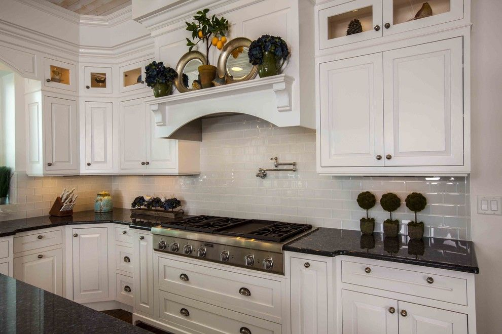 Blue Pearl Granite Backsplash Ideas Part - 29: Blue Pearl Granite Countertops Bring Luxury And Beauty To Your Kitchen:  White Subway Tile Backsplash