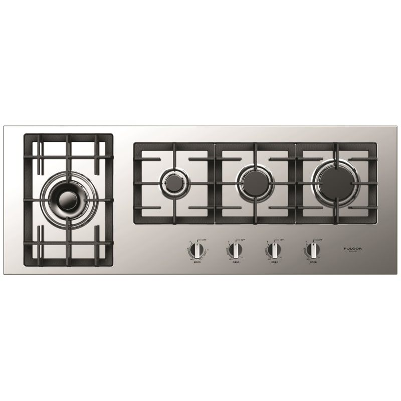 Fulgor Milano F4gk421 44 Inch Wide Gas Cooktop With Electric Re Ignition From Th Stainless Steel Cooktops