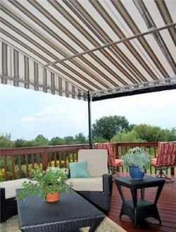 Deck awnings stationary patio awnings enjoy outdoor for Outdoor living concepts