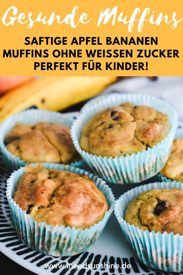 Apfel Bananen Muffins: Gesundes Rezept – perfekt für Kinder!