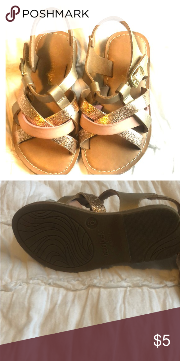 5f6ad0297d91 Toddler Cat and Jack sandals -Pink and gold sz 6. Pink and gold toddler