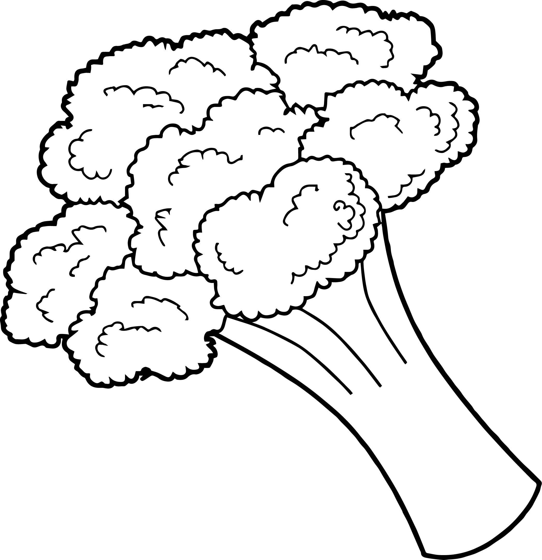 Nice Broccoli Vegetable Coloring Page
