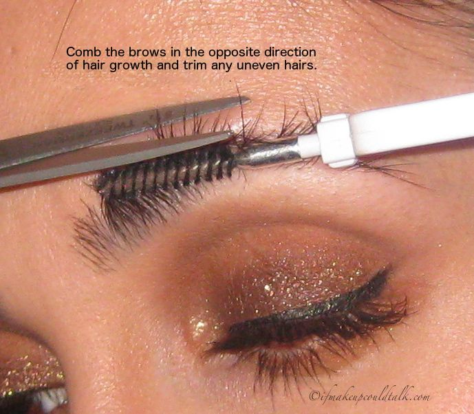 How To Trim Eyebrows Beauty Tips Pinterest Eyebrow Makeup And