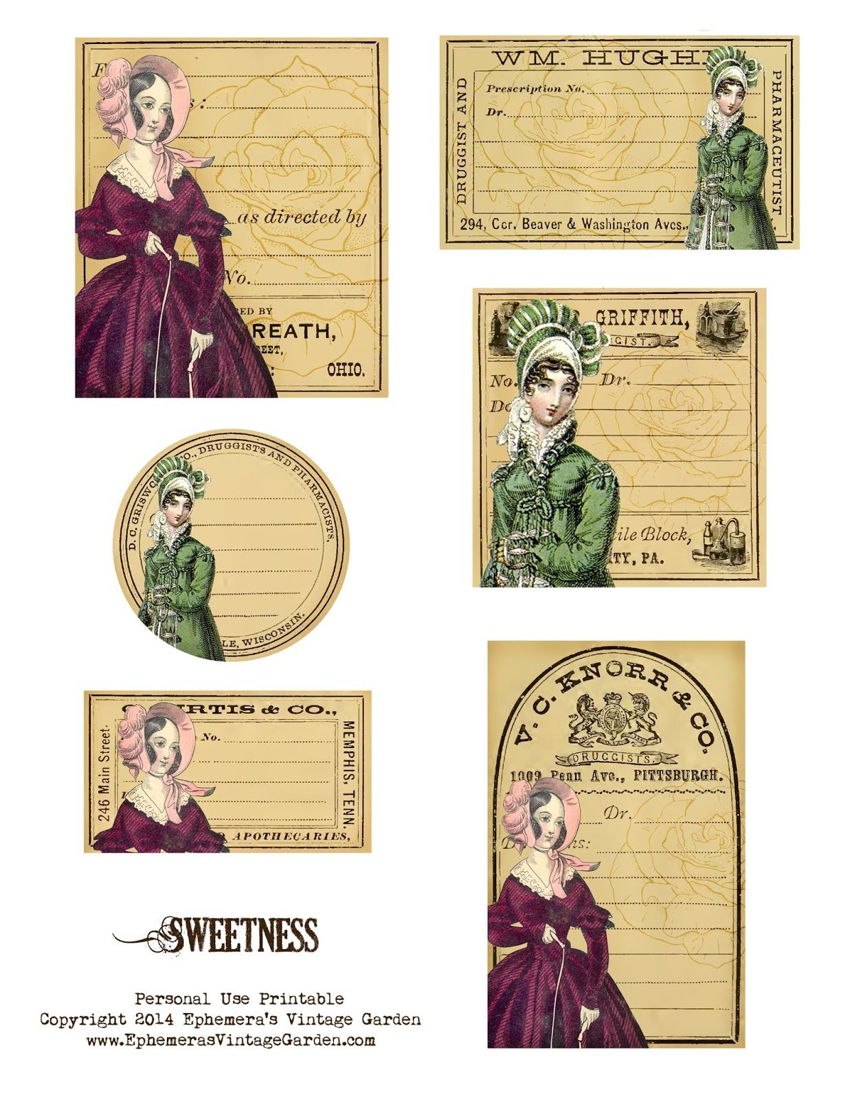 image relating to Free Printable Ephemera identified as Ephemeras Common Yard: Free of charge Printable - Sweetness