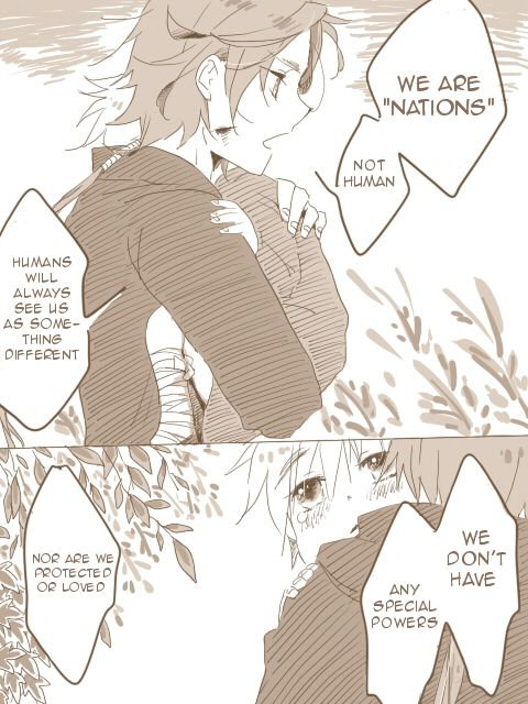 "Page 21 of 25 of a doujinshi ""Forest"" featuring Iain (head-canon name for Scotland), little Arthur, some hostile humans, and the Fairies. Original Japanese by 青柳@ついった厨 on Pixiv (http://www.pixiv.net/member_illust.php?mode=medium&illust_id=18691991), translated into English by Hitsu."
