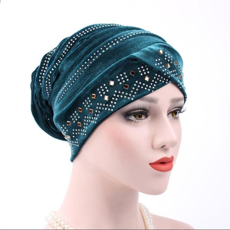 Head Wrap Scarf  Velvet Turban Bandana  Chemo Hat  Muslim Hijab Cancer Cap