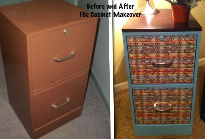 Funky Painted Filing Cabinets Metal File Cabinet Makeover Using Mod Podge