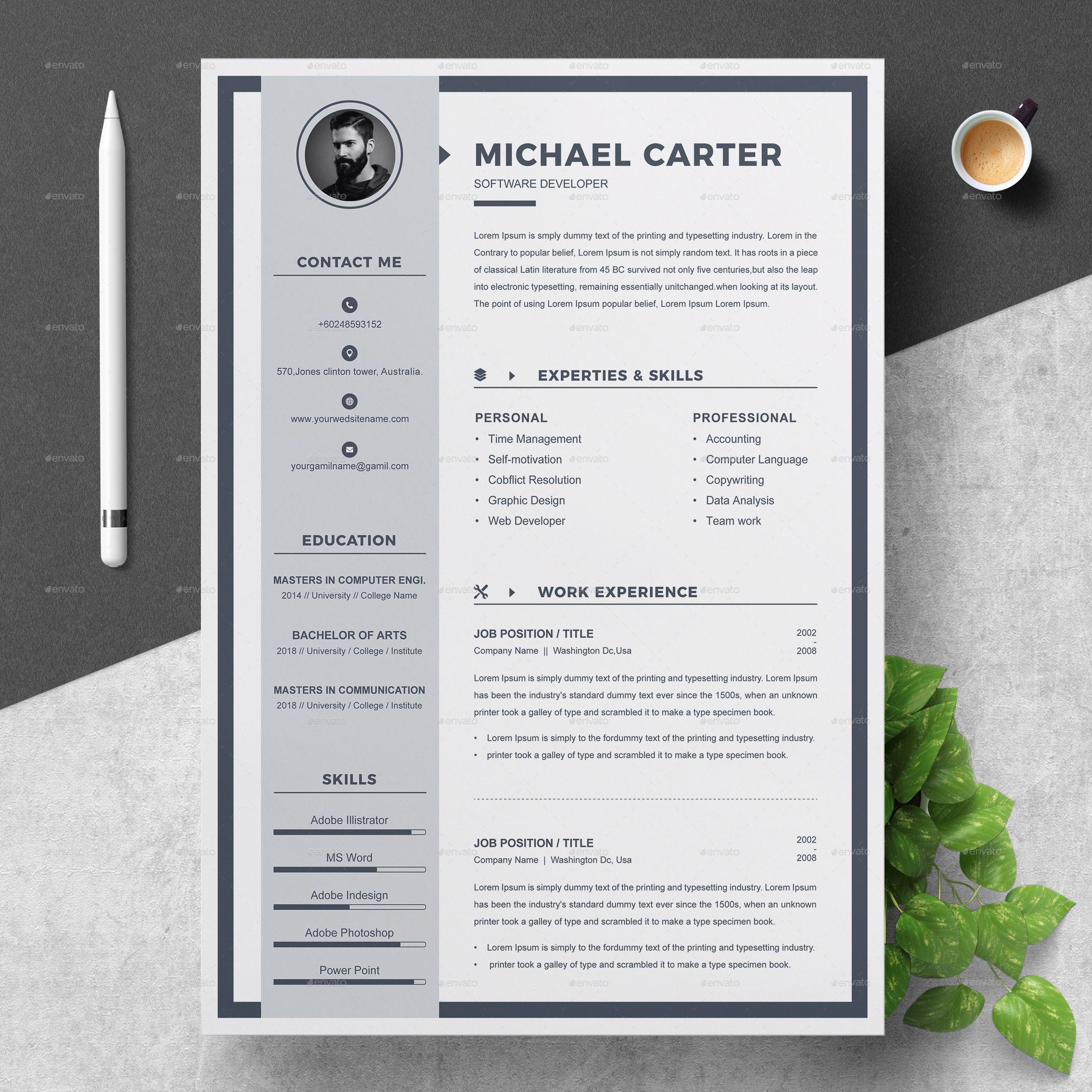 Canva resume Template resume template creative resume
