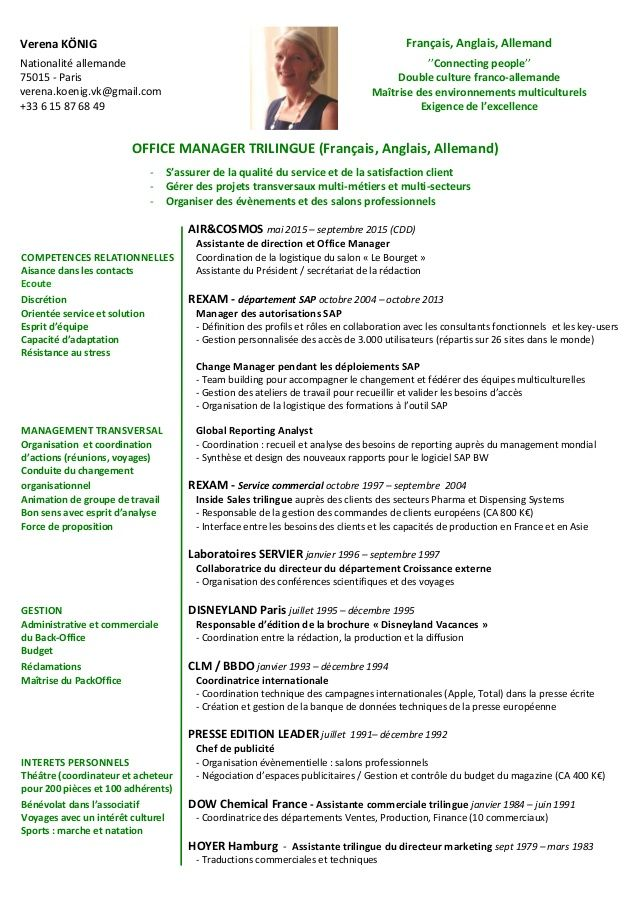 Afficher lu0027image du0027origine CV Pinterest - sample resume of office manager