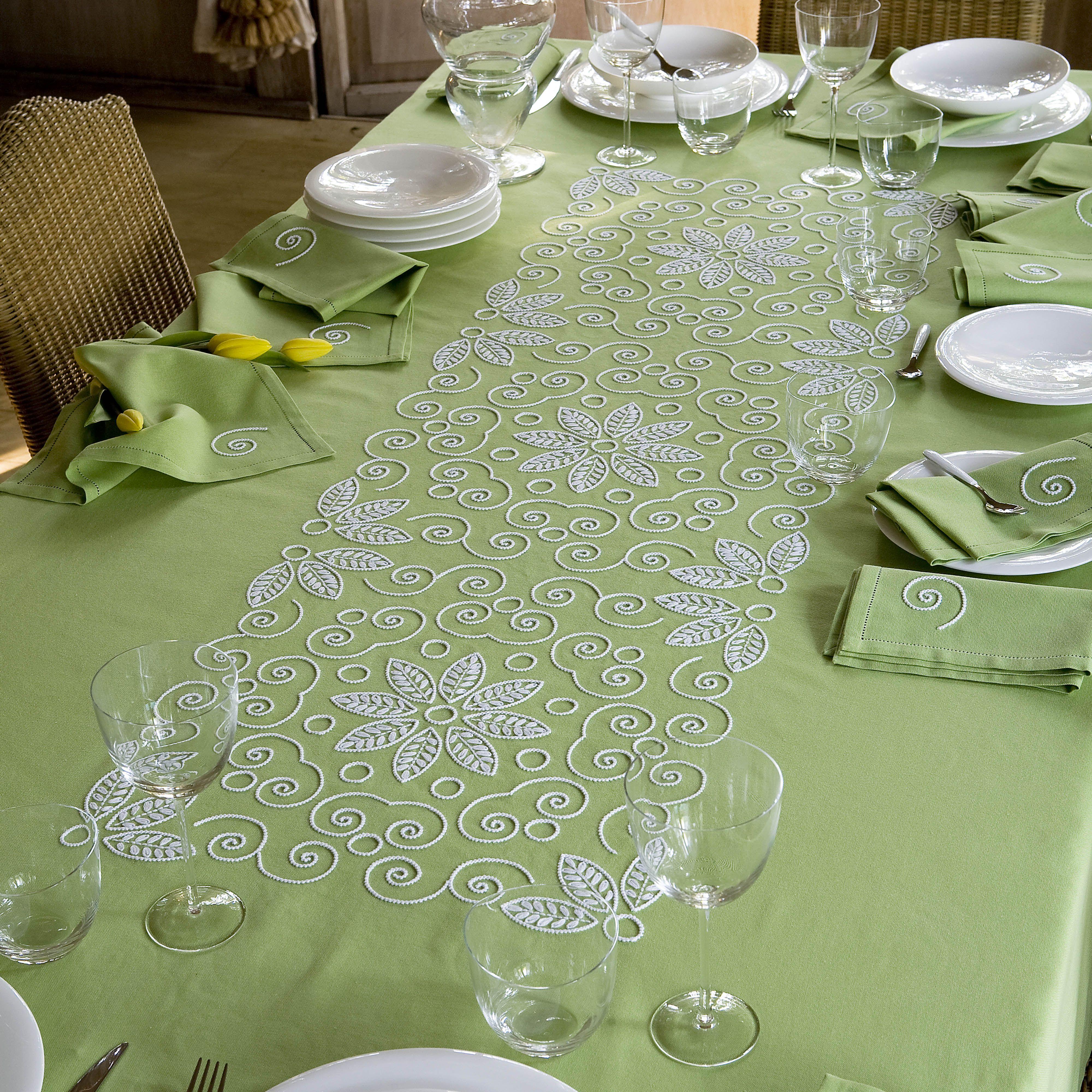 Tovaglia punto palestrina mani di fata eyiz embroidery stitches embroidery applique e - Disegni punto croce per tovaglie da tavola ...