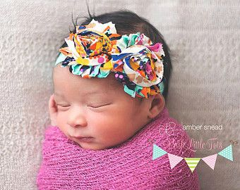 Baby Headband - Baby Girl - Flower Headband - Newborn Headband - Photo Prop - Baby Shower - Baby Girl Headbands - Infant Headband