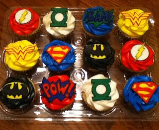 Cool Dc Comics Birthday Cake Cupcakes 8 13 With Images Cupcake Funny Birthday Cards Online Kookostrdamsfinfo