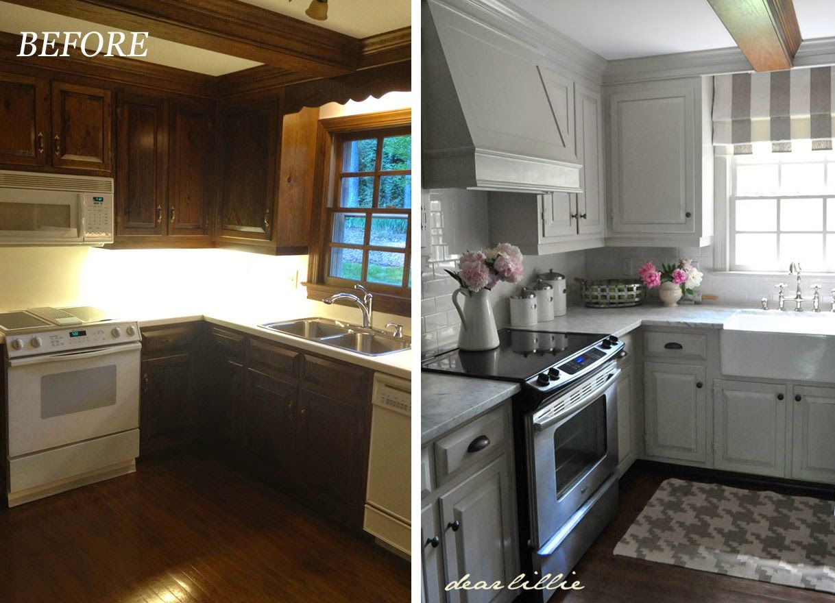 Before and after kitchen makeover painted cabinets b m for Kitchen cupboard makeover before and after