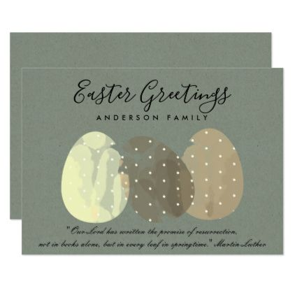 Modern zen grey watercolor easter eggs personalise card negle Choice Image