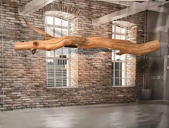 Plafoniere Con Base In Legno : Lampada da soffitto con cinque faretti led montato su lampade