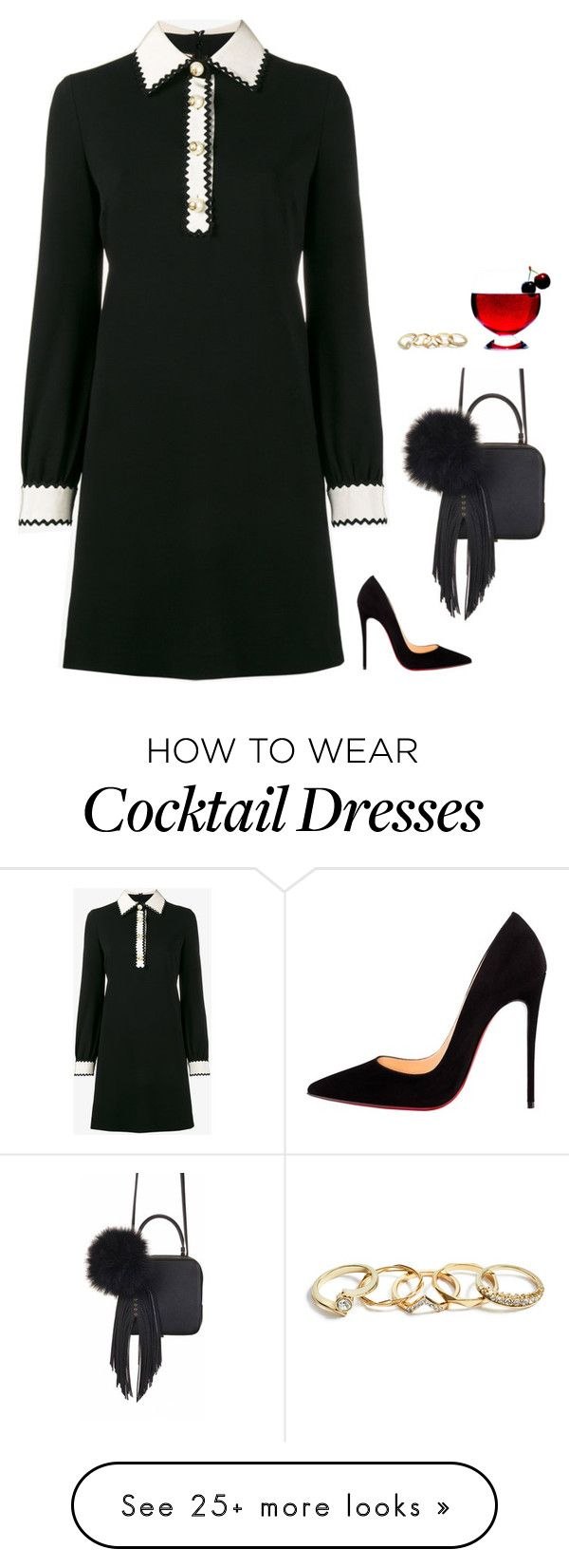 """#6842"" by azaliyan on Polyvore featuring Gucci, Christian Louboutin, The Volon and GUESS"