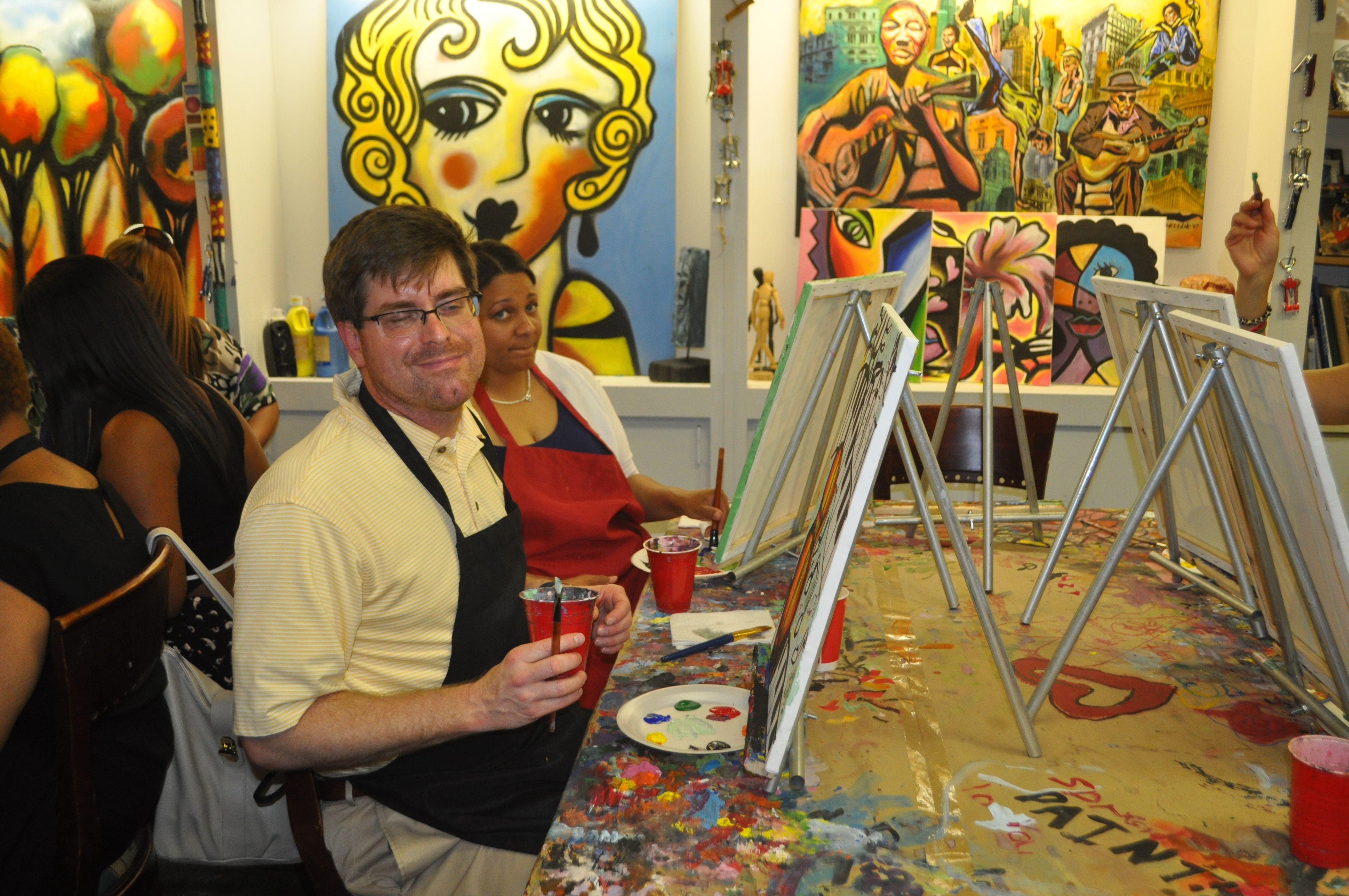 Acrylic painting art class painting art