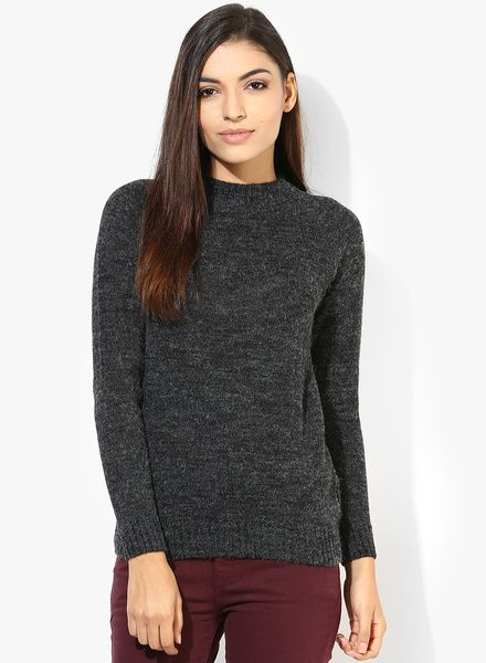 68d4773f62 Buy Alia Bhatt For Jabong Wool Blend Heather Grey Sweater for Women Online  India, Best Prices, Reviews | AL635WA65XXAINDFAS