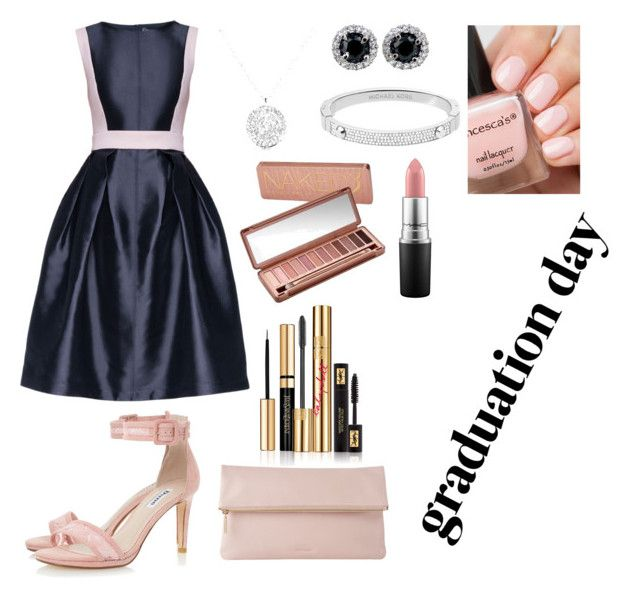 """""""pink nude for graduation♥"""" by aisyahninda ❤ liked on Polyvore featuring Lattori, Whistles, Michael Kors, Urban Decay, Yves Saint Laurent, MAC Cosmetics and graduationdaydress"""
