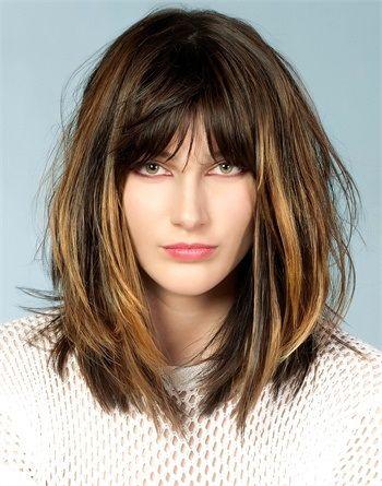 Tagli capelli sfilati medio corti