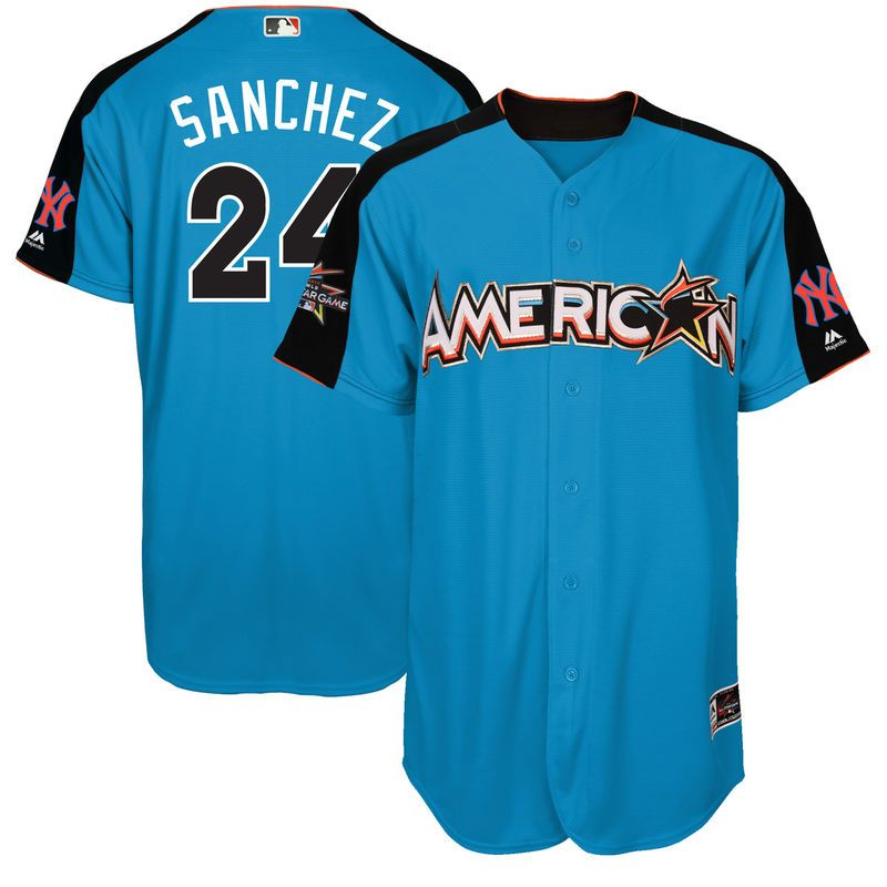 b74ac680e Gary Sanchez American League Majestic 2017 MLB All-Star Game Authentic Home  Run Derby Jersey - Blue