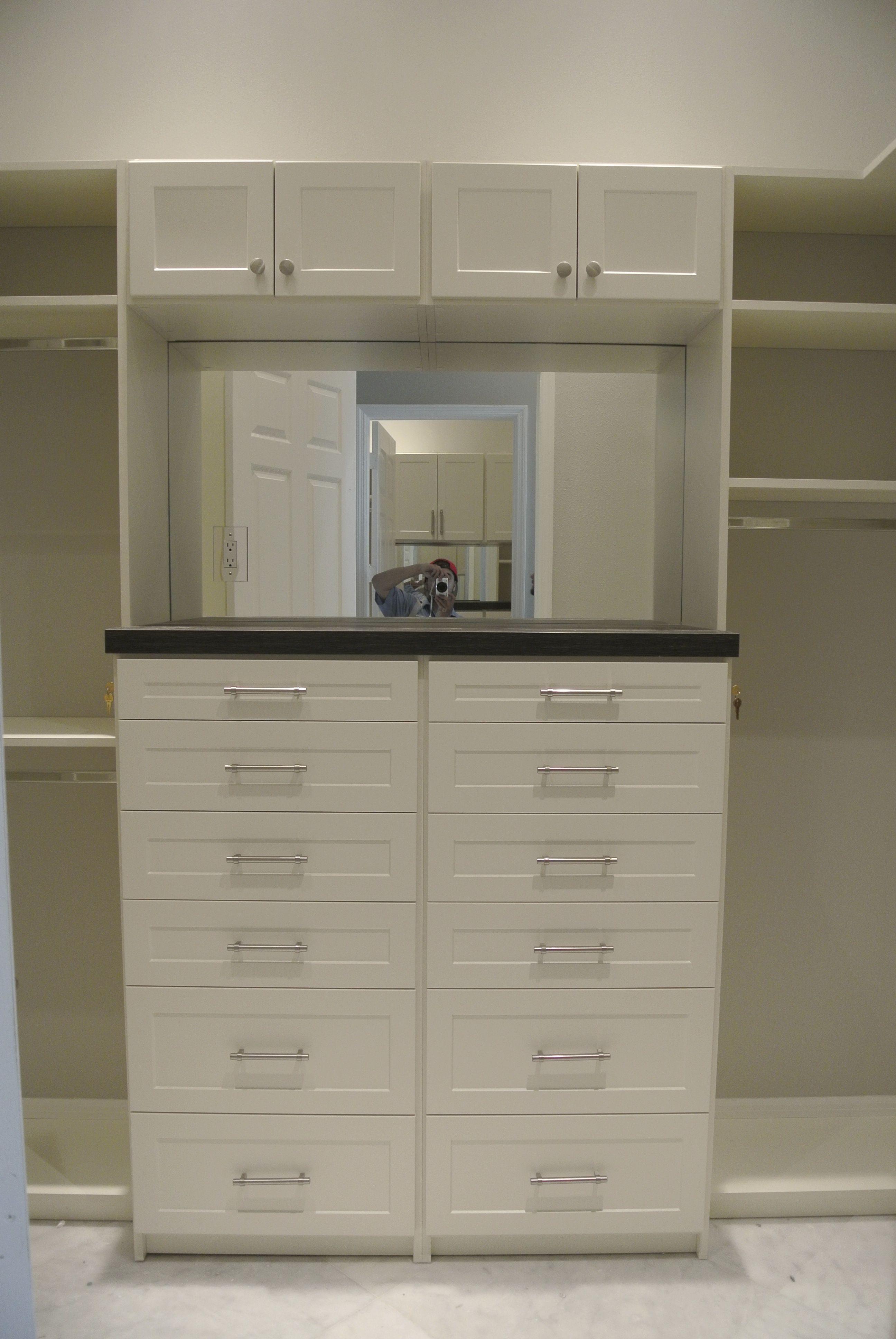 I Love The Built In Mirror Naples, Florida   Riverstone Subdivision Custom  Closet Renovation.