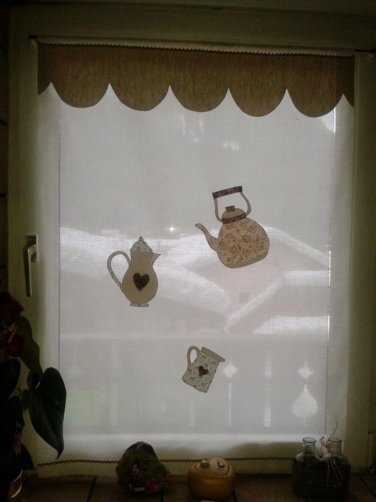 Un filo di me: Tende per la cucina con l\' appliquè. | +window ...