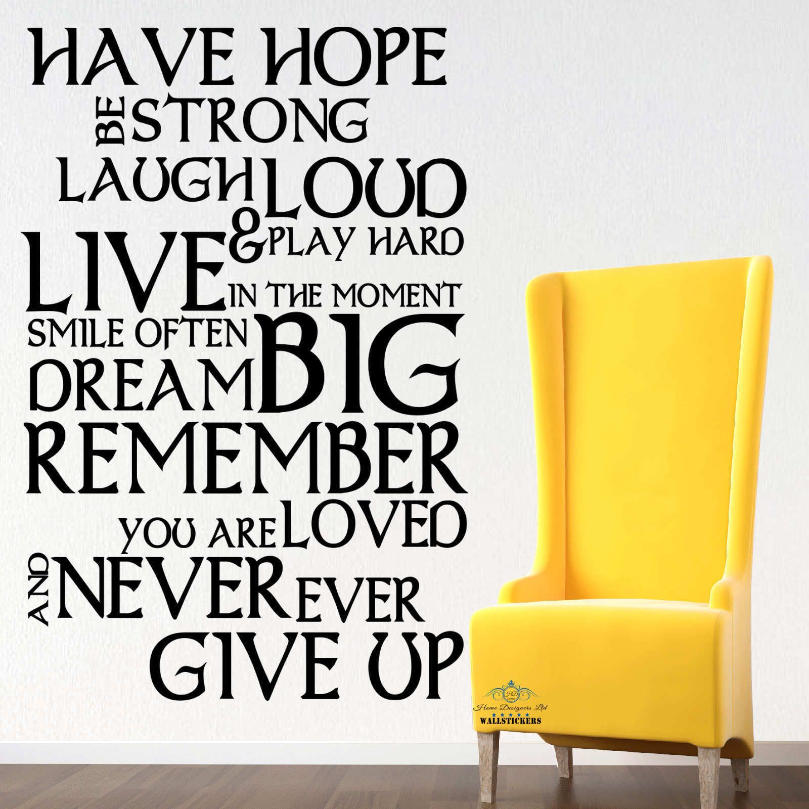 Have Hope Inspirational Wall Sticker Quotes, Wall Decals, Wall Art ...
