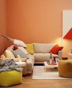 Con solo pintar las paredes de tu sala todo tiene m s - Colores para pintar paredes ...