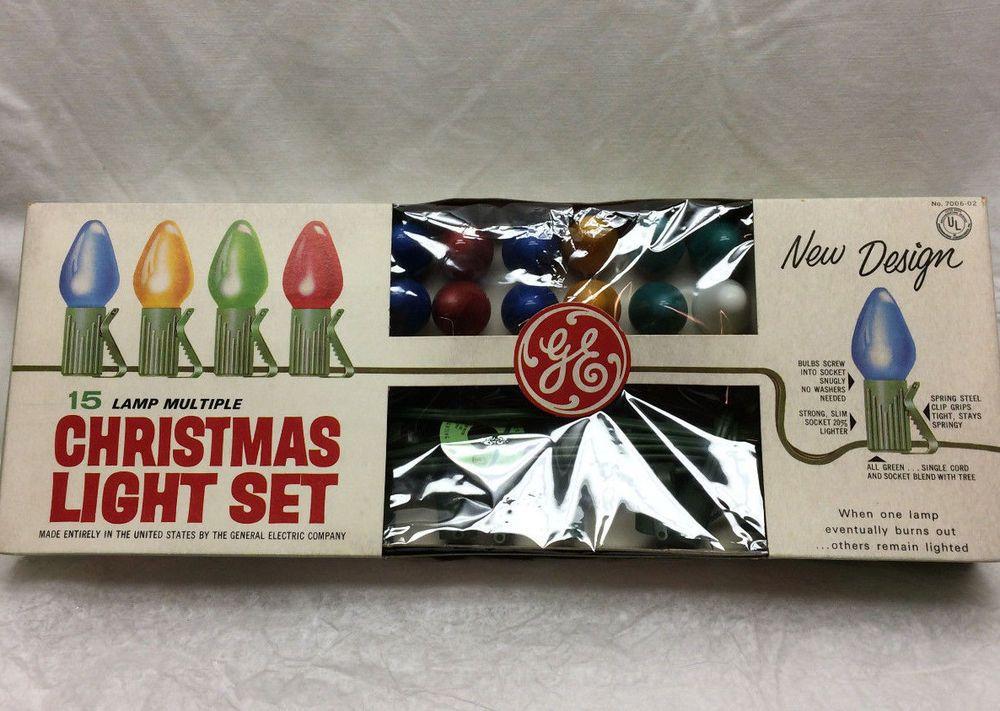 Details about VINTAGE RITZ 15 CHRISTMAS LIGHT SET W/ORIGINAL BOX