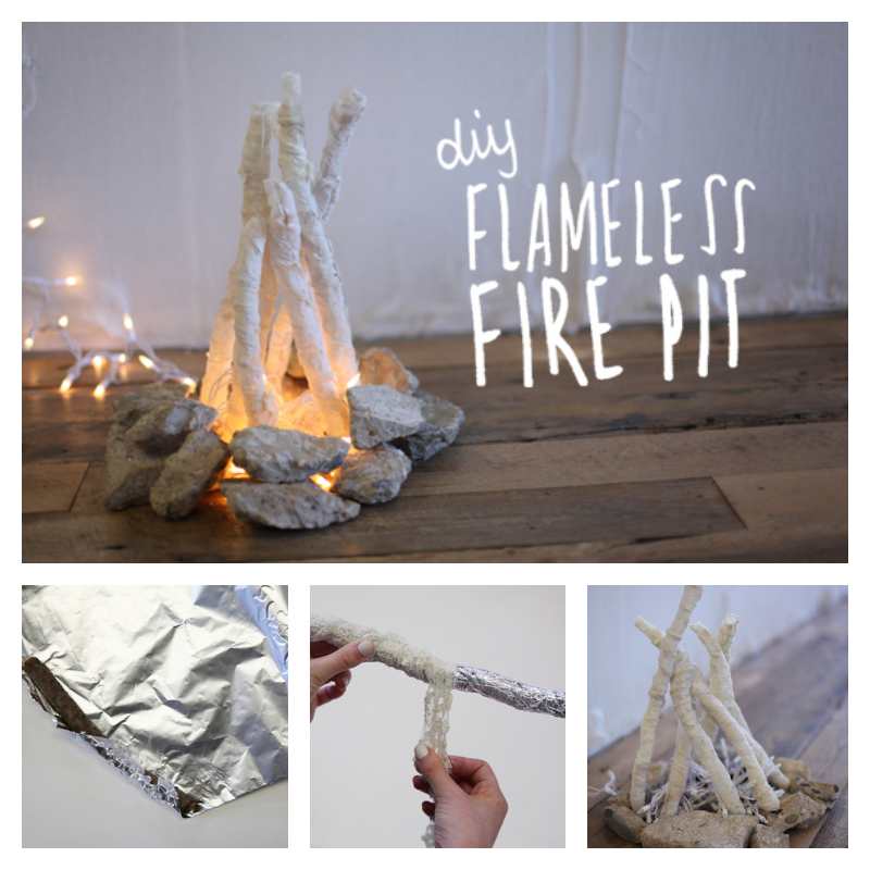 DIY Flameless Fire Pit | Diy, Diy projects, Creative
