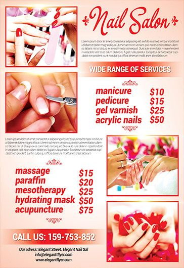 Free Best Nails Salon Psd Template Event Flyer Templates Business
