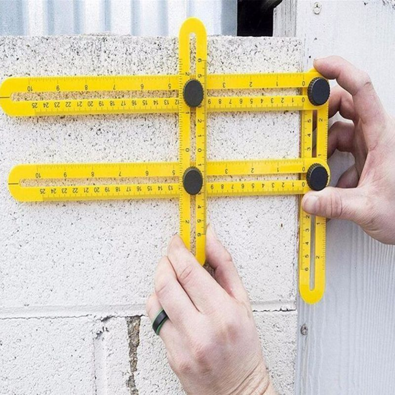 Universal Ruler Multi Angle Measuring Tool Tape Ultimate Template Yellow Black