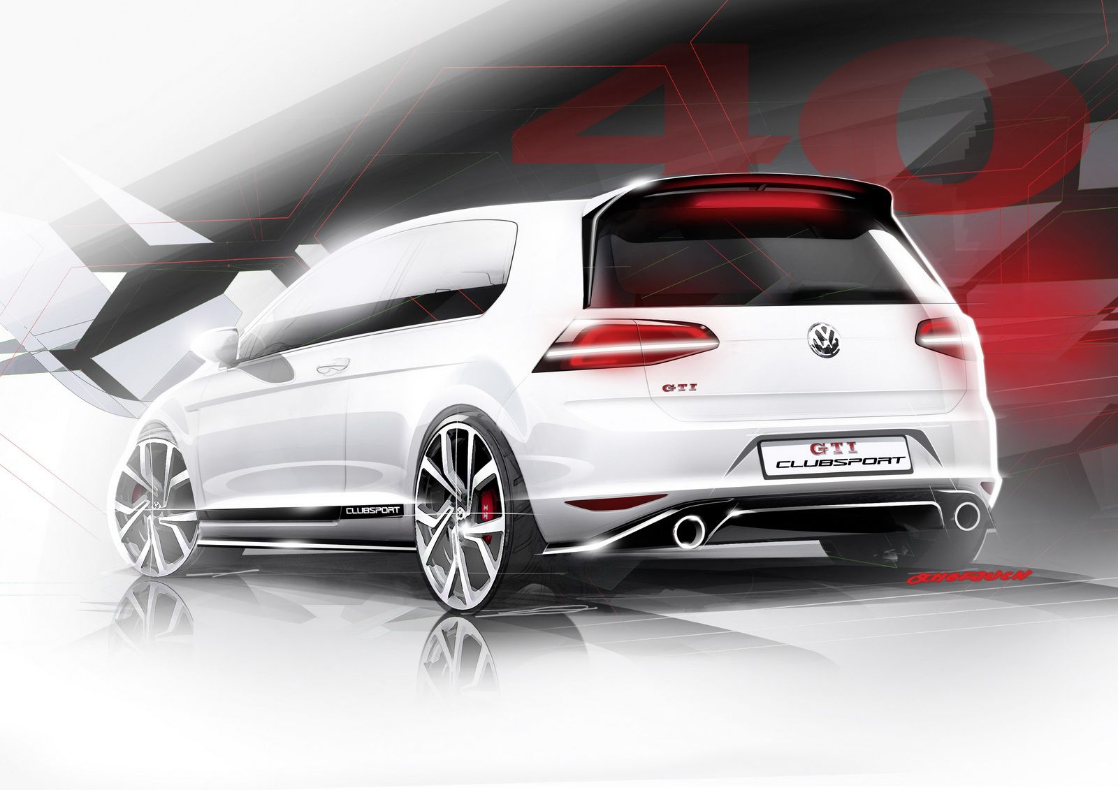 Vw Previews Near Series Golf Gti Clubsport With 265ps Will