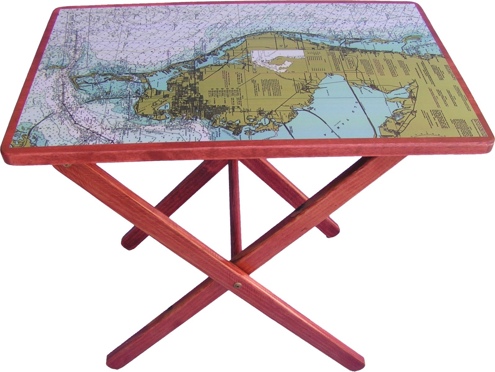 Map Table Wood Folding Table Map Crafts Folding Table