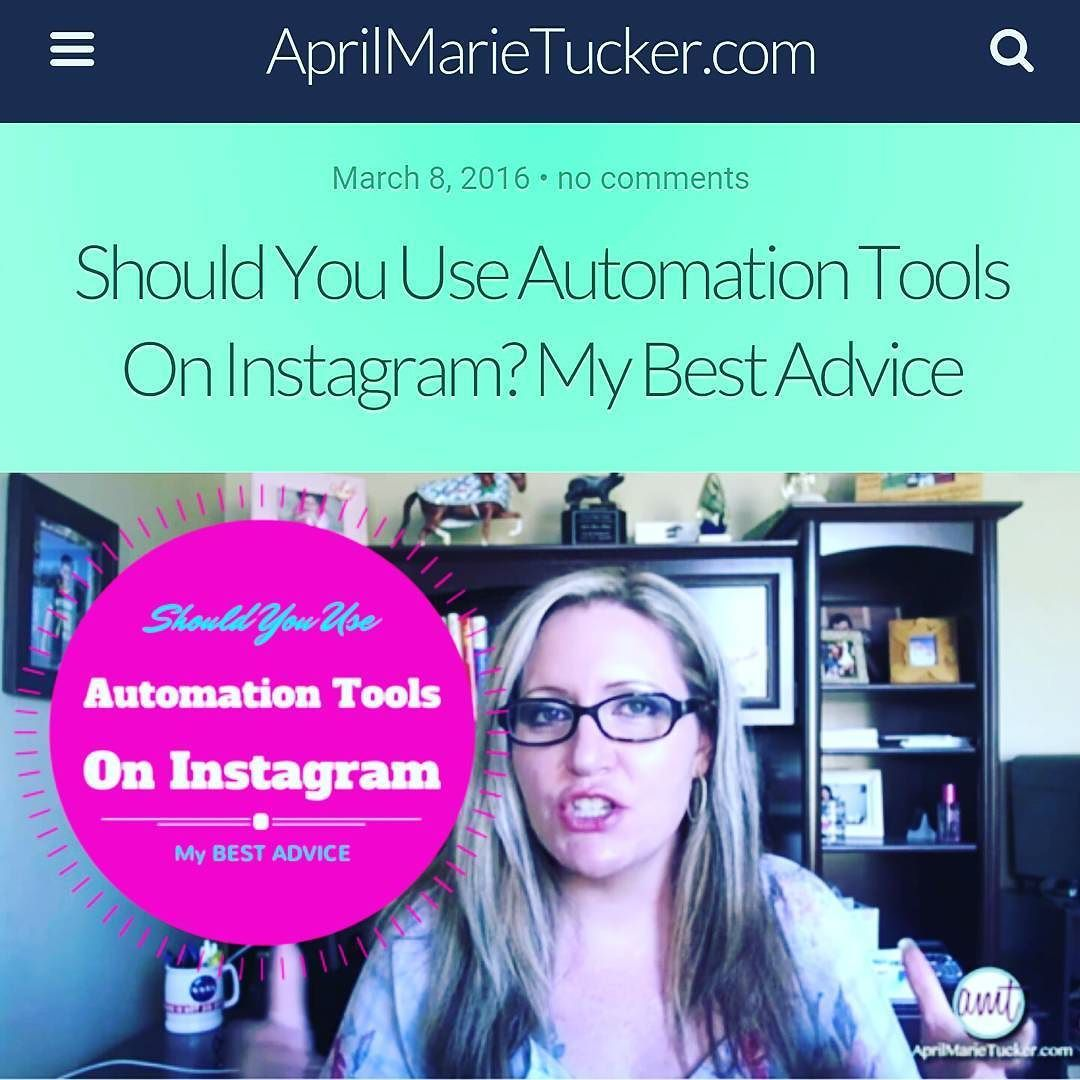 New video! Should you use automation tools on Instagram? Get my expert opinion and best advice  http://ift.tt/1lFZvm1