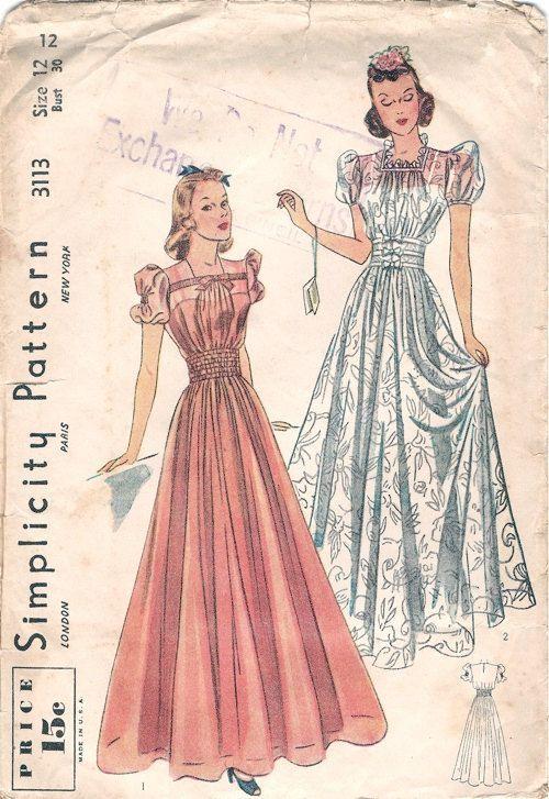 30s evening dress pattern 4 shurley | Wedding dress | Pinterest ...