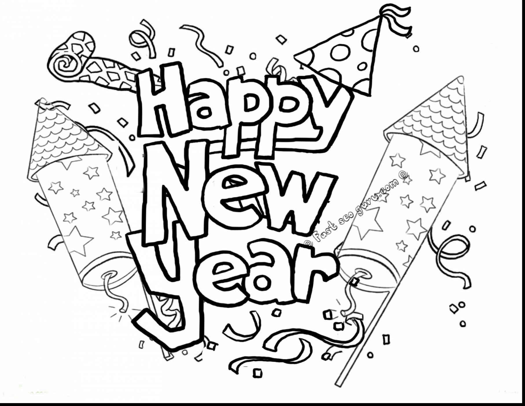 ausmalbilder silvester neujahr kostenlos