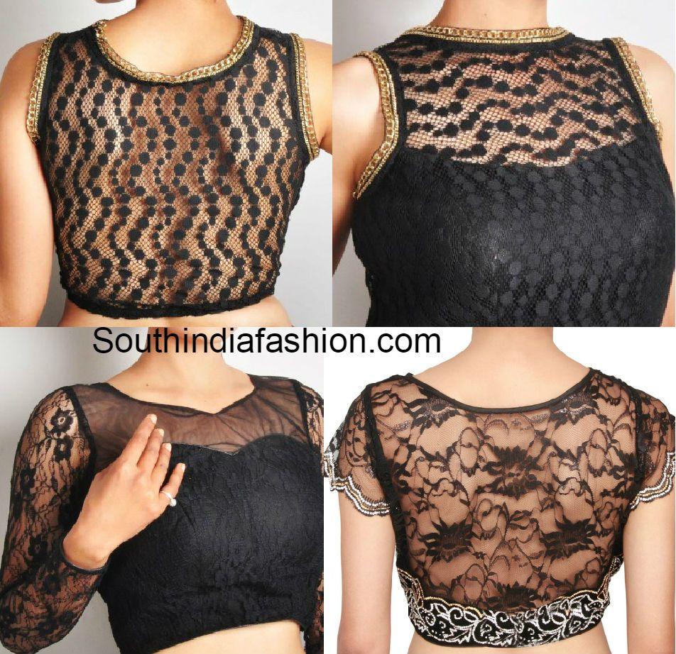 d0b2916ea7c1a2 Lace Net Blouse Deisgns | Blouses | Blouse designs, Netted blouse ...
