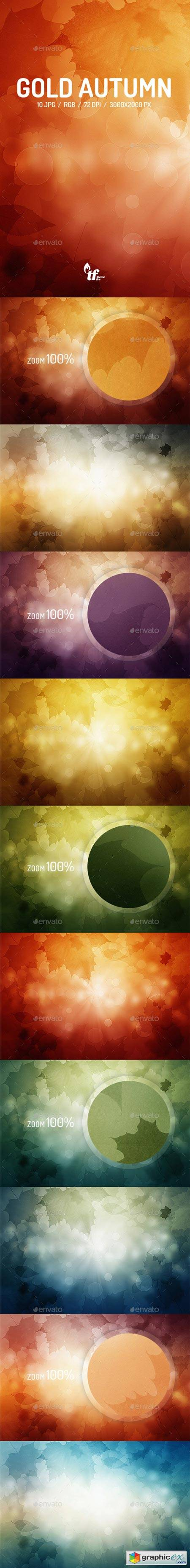 Gold Autumn Backgrounds 9091523  stock images
