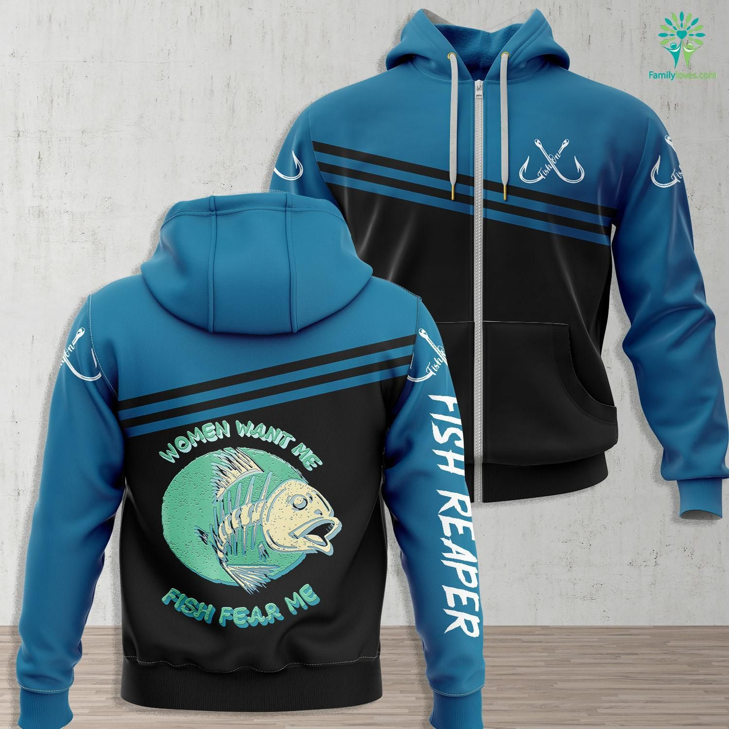 Galveston Fishing Report Women Want Me Fish Fear Me Funny Fisher Fishing Sports Tee Fishing Zip up Hoo All Over Print Familyloves