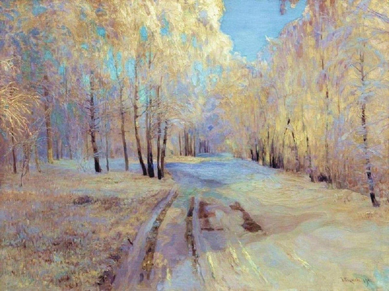 Vasily Baksheyev - An Icy Frost, 1900