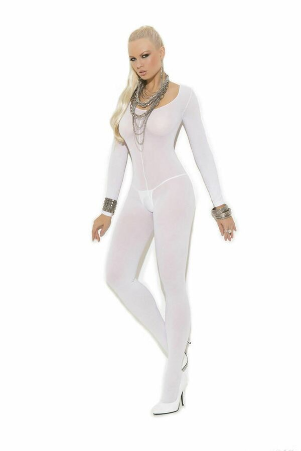 a6f1264440f LH Sexy Lingerie White Body Stocking Sheer Mesh Nightwear Bodystocking  Hosiery 5051150363595 eBay White Body Stocking
