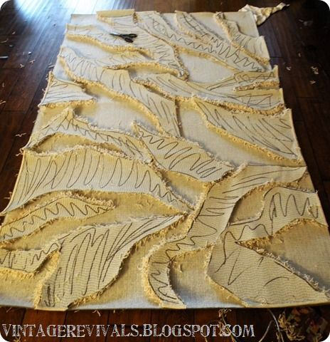 How to make your own Zebra print rug.