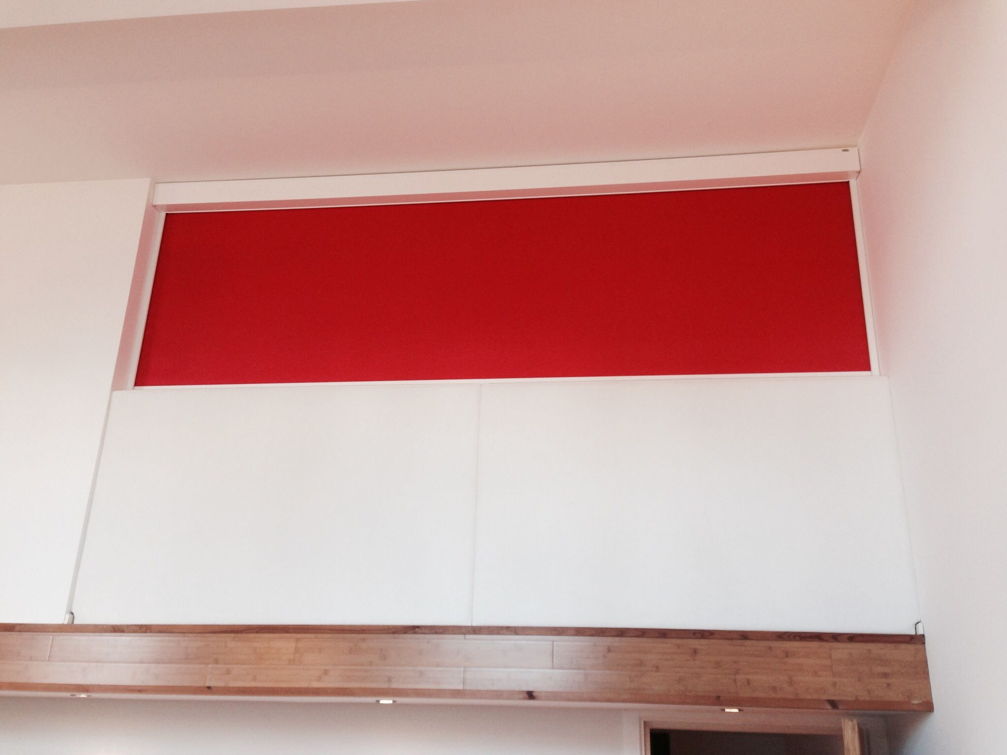 Full Cassette Electric Blinds used as a room divider Electric