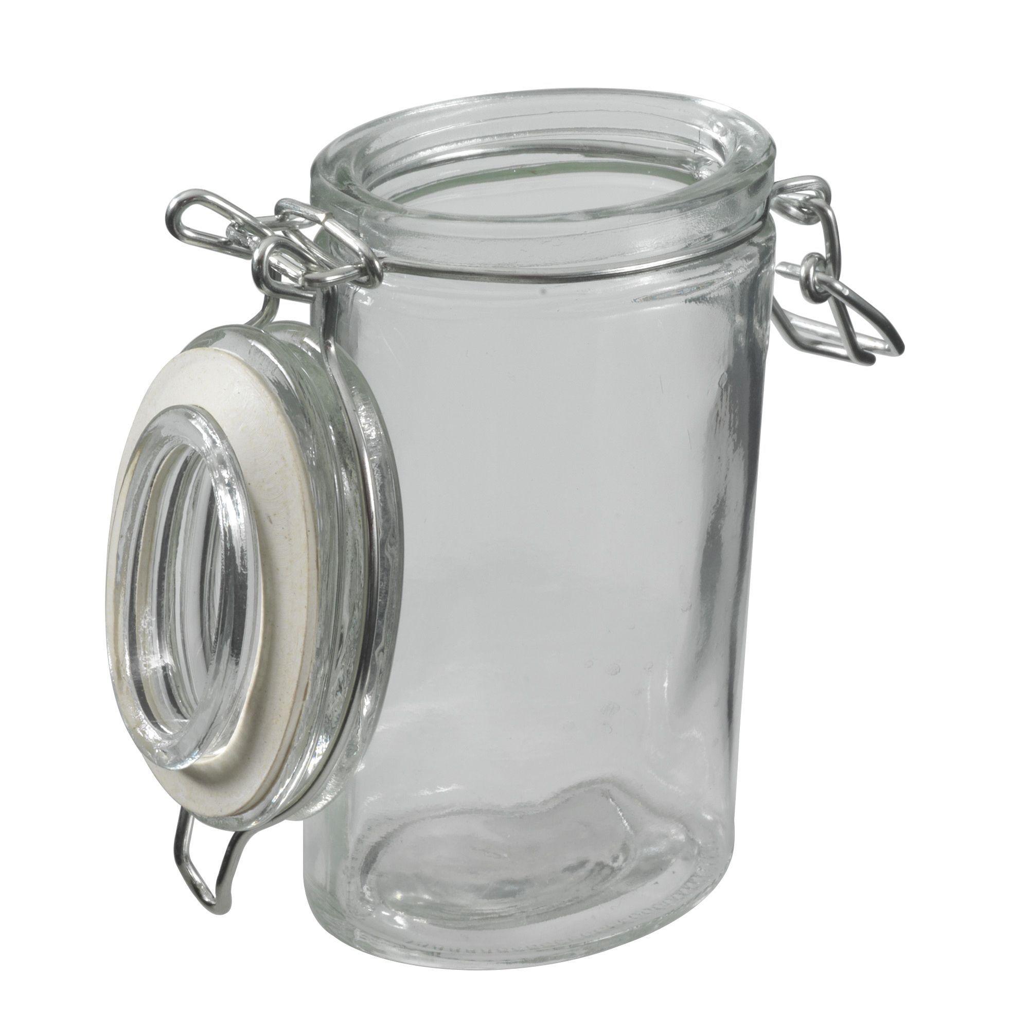 pot pices ovale en verre erzo les bocaux et boites pour conserver et ranger cuisine par. Black Bedroom Furniture Sets. Home Design Ideas